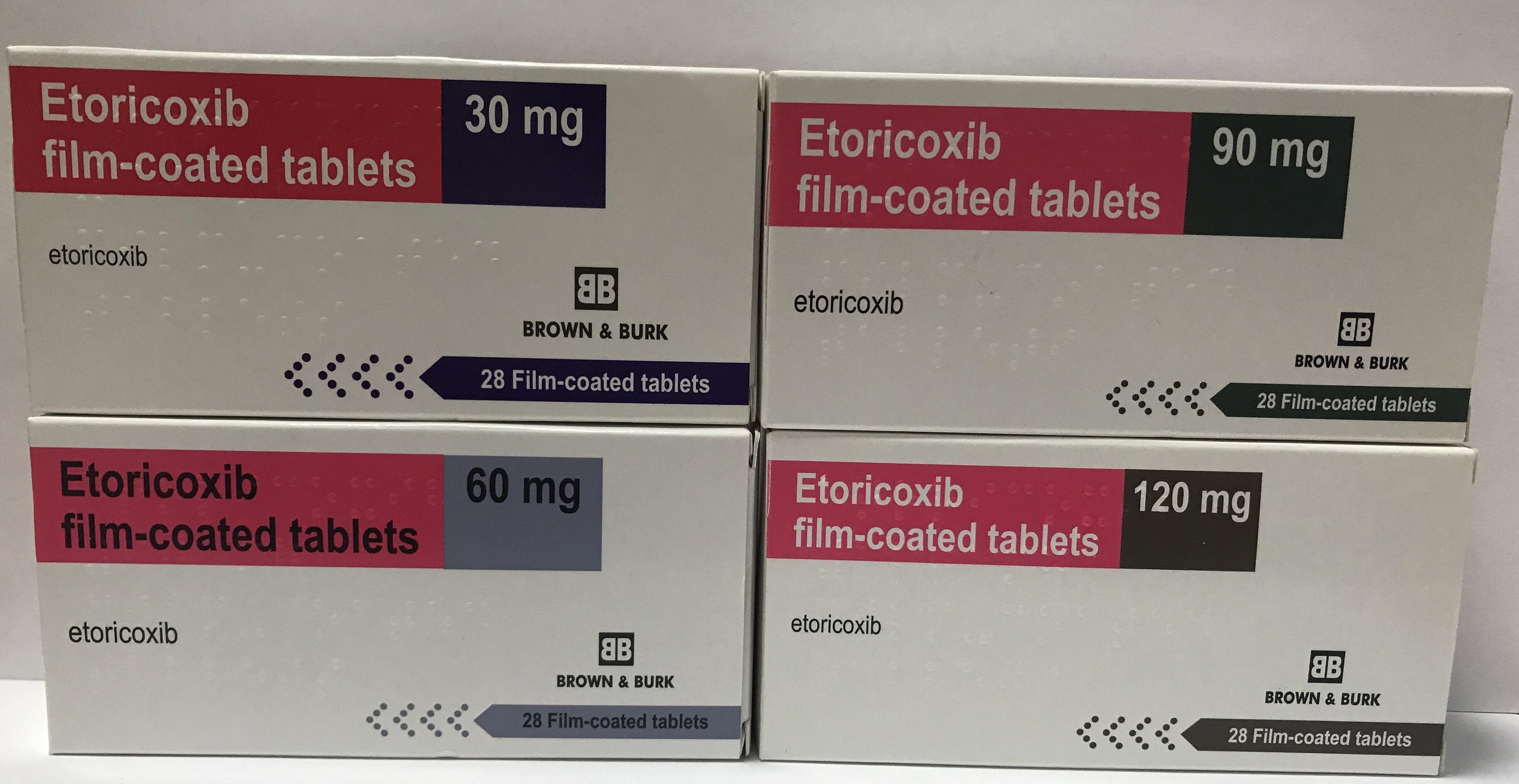 Etoricoxib all mgs